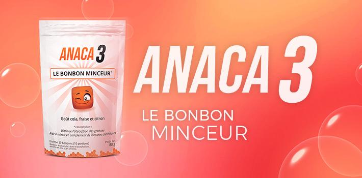 Anaca3 le bonbon minceur : Pharmacie ou sur le site ?