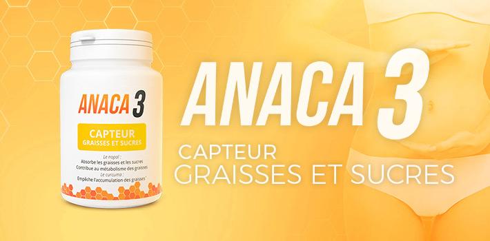 Anaca3 capteur graisses et sucres un complément alimentaire