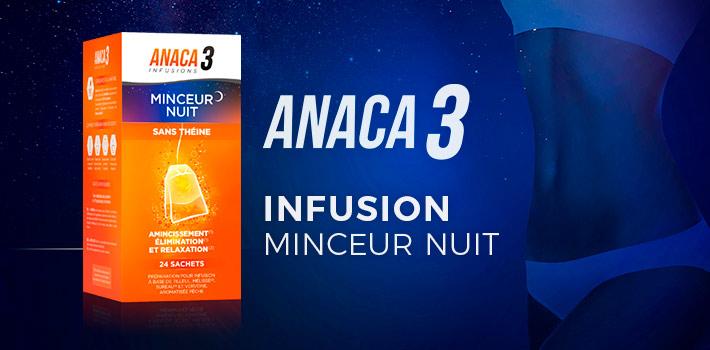 Anaca3 infusion minceur nuit : quels effets